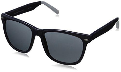 Tommy Hilfiger Men'S Ths 121 Wayfarer Sunglasses, Navy & White, 56 Mm