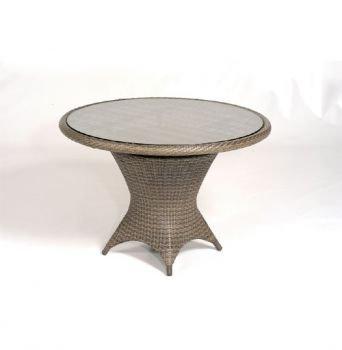 Tisch Bonaire rund, Alu-Gest., KS-Gefl. Cappuccino, H 75, D 110 cm jetzt kaufen