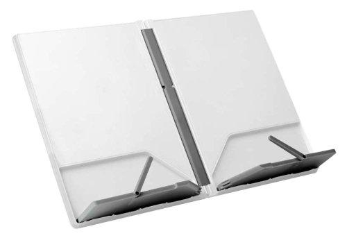 Joseph Joseph CookBook Compact Folding Bookstand, White and Gray
