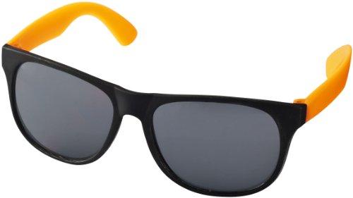 """Retro Sonnenbrille - UV 400 zertifiziert - Sonnenbrille im """"Nerdlook"""" (schwaz und orange)"""