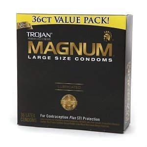 Trojan Magnum Lubricated Latex Condoms-36 ct