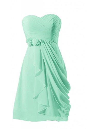 Daisyformals Short Sweatheart Bridesmaid Chiffon Prom Dress(Bm437)- Mint
