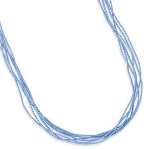 Blue 6-strand Cord Necklace Sterling Silver Adjustable Length