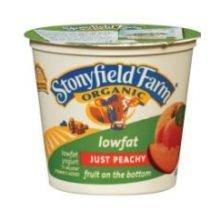 Stonyfield Farm Organic Low Fat Peach Yogurt, 6 Ounce -- 12 Per Case.