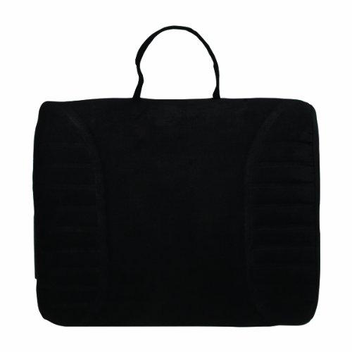 Advantus Massaging Lumbar Cushion With Heat, 13.25 X 2.5 X 11.5 Inches, Black Microfiber (60-2802Mr05)