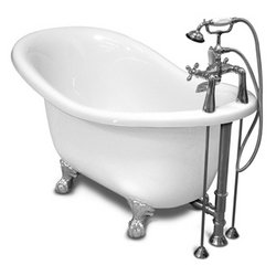 Ascot Chrome Clawfoot Slipper Bathtub Package