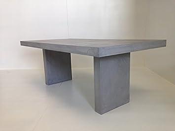 Table à manger beton rectangulaire 200x100 Double pietement