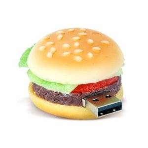 High Quality 16 GB Food hamburger shape USB Flash drive by T &  J