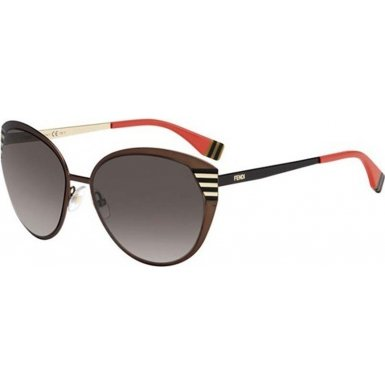 Fendi Metal Cateye Sunglasses in Brown Gold FF 0017/S 7RO 58