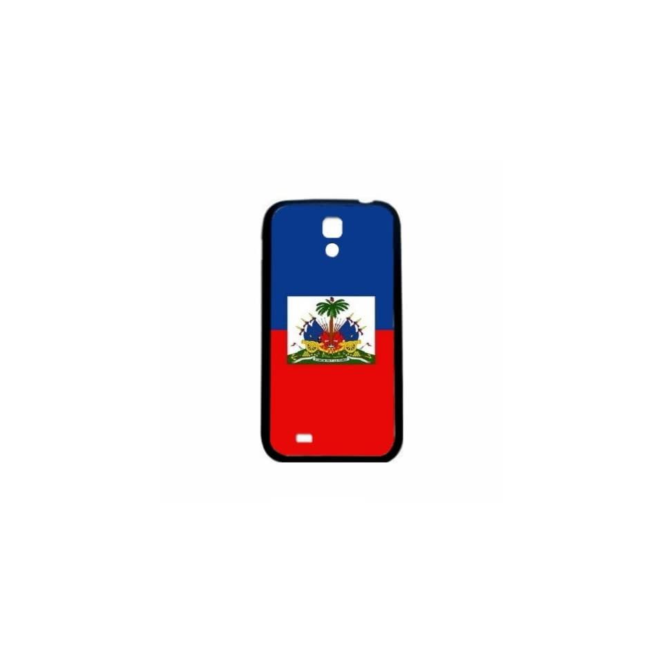 Haiti Flag Samsung Galaxy S4 Black Silcone Case   Provides Great Protection