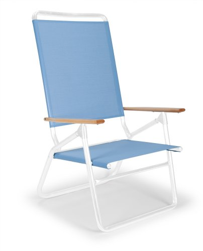 Telescope Casual Light And Easy High Boy Folding Beach Arm Chair, Sky With Gloss White Frame (Discontinued By Manufacturer)