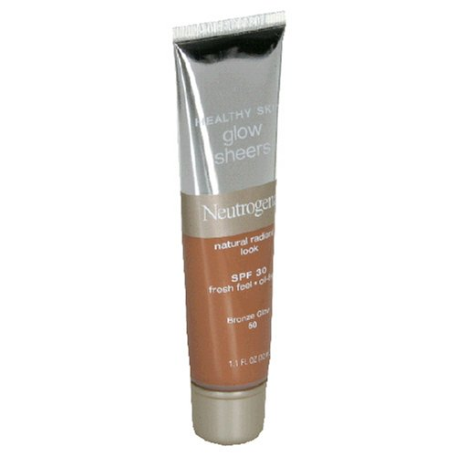 Neutrogena Healthy Skin Glow Sheers, SPF 30, Bronze Glow 50, 1.1 Ounces (Pack of 2)