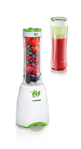 Fit for Fun SM 3735 Standmixer Smoothie Mix und Go, 600 ml, weiß / grün