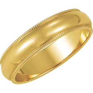 Genuine IceCarats Designer Jewelry Gift 10K Yellow Gold Wedding Band Ring Ring. 02.50 Mm Milgrain Band In 10K Yellowgold Size 9
