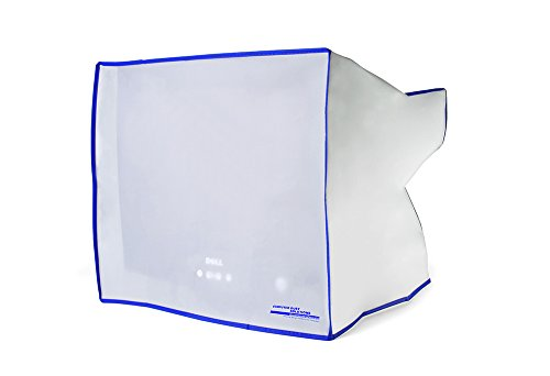 Dust and water resistant silky smooth antistatic vinyl CRT Monitor Dust Cover for 17