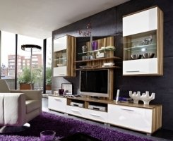 wohnzimmer spocky wohnwand baltimore walnuss wei. Black Bedroom Furniture Sets. Home Design Ideas