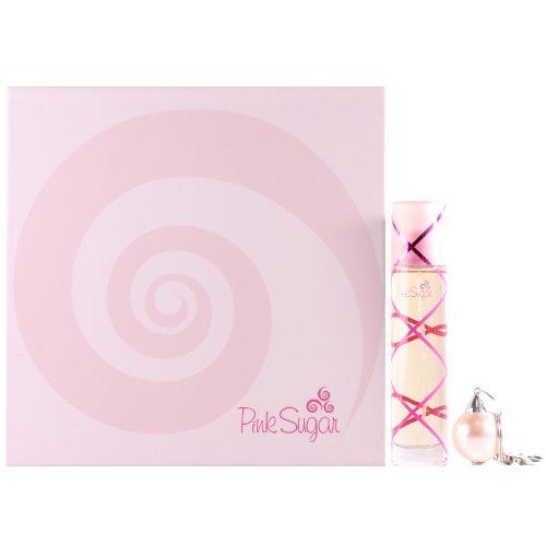 Gift Set Pink Sugar Pour Femme: Eau de Toilette 50 ml Vapo + Portachiavi con Perla Donna