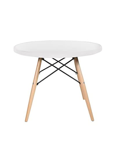 LO+DEMODA Mesa Auxiliar Tower Coffe Blanco
