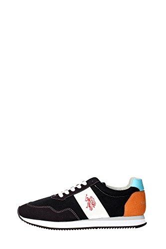 U.s. Polo Assn NOBIL4044S6/CH1 Sneakers Uomo Camoscio/tessuto Nero Nero 43