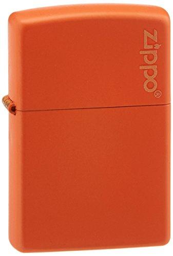 Zippo Orange Matte Lighter W/Logo 231ZL