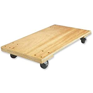 """Birch Solid Deck Hardwood Dolly, 1000 lb Capacity, 18"""" x 30"""" x 5 1/4"""" (SPR68978) Category: Furniture Dollies"""