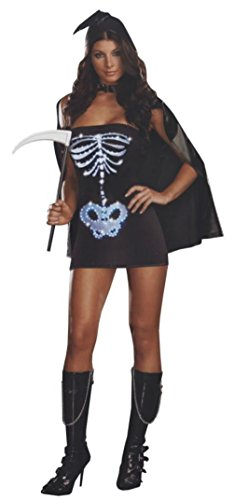Dreamgirl Womens Maya Remains Sexy Skeleton Theme Party Fancy Halloween Costume