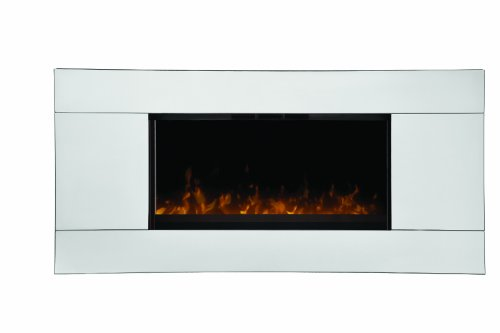 Dimplex DWF-13293A Reflections Wall-mount 40-Inches by 19-Inches Electric Fireplace, Stainless image B00FAWQBII.jpg