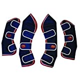 Weatherbeeta Set of 4 Travel Boots -NAVY/RED/WHITE PONY SIZE