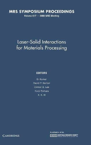 Laser-Solid Interactions for Materials Processing: Volume 617 (MRS Proceedings)