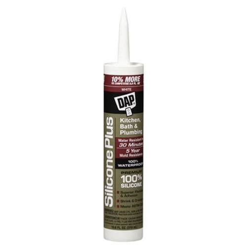 Dap 08640 Bathroom Silicone Rubber Caulk 9.8-Ounce White