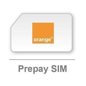 Carte SIM prépayée Orange (Import Royaume Uni)
