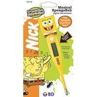 Bd Musical Spongebob Squarepants Digital Thermometer By Bd
