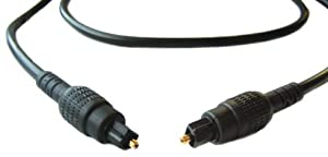 1m Optical Cable / 1 Metre Toslink Lead / Digital Audio Gold Plated (BY CABLES 4 ALL)