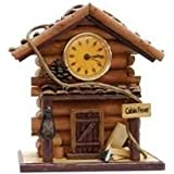 Log Cabin Rustic Wall Clock