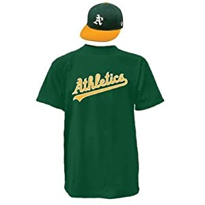 Oakland Athletics Combo MLB CAP & JERSEY Major League Baseball Licensed Replica... by Authentic Sports Shop