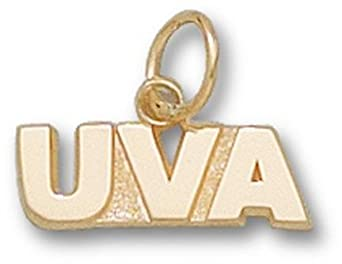 Virginia Cavaliers UVA 3 16 Charm - 14KT Gold Jewelry by Logo Art