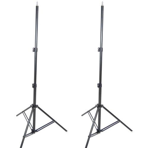 Kit Trépied pour Studio DynaSun 2x W957 250cm Support de Fond Pied Photo Video Tres Robuste avec Sac