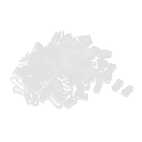 Type R 160Pcs Nylon Blanc Clip Clamp pour 8,4 mm Diamètre de Tube de flexible métallique