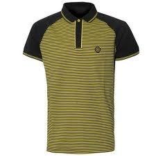 Nicolas Deakins t-shirt.Black stripe Polo Tee Shirt.Surface.Mens size XL.