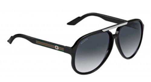 Gucci Men's 1627 Shiny Black Frame/Grey Gradient