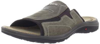 ECCO Men's Cancun Sandal,Warm Grey/Licorice,40 EU/6-6.5 M US