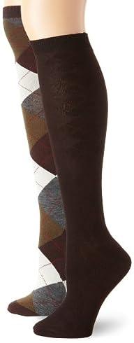 Anne Klein Women's 2 Pack Argyle Knee…