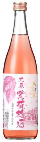 Japanese Umeshu Plum Wine with Red Shiso from Kyoto, 72cl