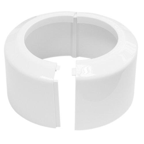 Klapp-Rosette für Anschlussbogen / -rohr | Weiß | WC, Toilette