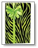 LIME GREEN & BLACK ZEBRA Animal Print Gift Wrap
