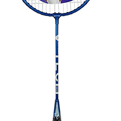 Strauss V-Tech 1012  Badminton Racquet with Full Cover (Black/Blue)