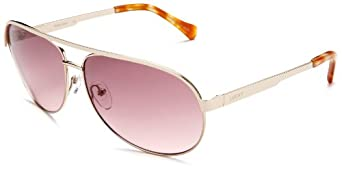 Lucky Riff Aviator Sunglasses,Rose Gold Frame/Brown Gradient Lens,one size