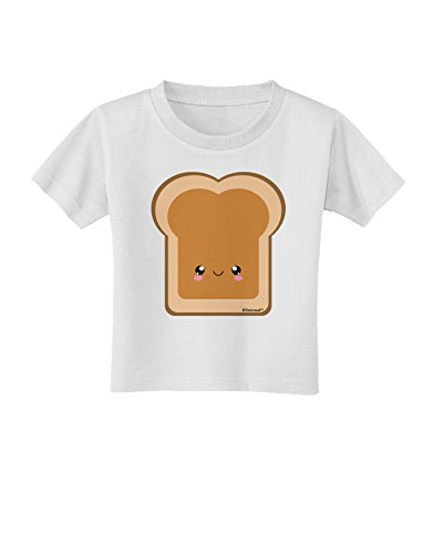 Tooloud Cute Matching Design - Pb And J - Peanut Butter Toddler T-Shirt - White - 2T