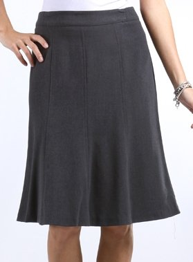 IM43410 - Knee Length A-Line Skirt - Charcoal / M