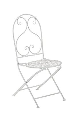 CLP nostalgischer Klappstuhl VAHAN Loraville aus Eisen (aus bis zu 6 Farben wählen) von CLP auf Gartenmöbel von Du und Dein Garten